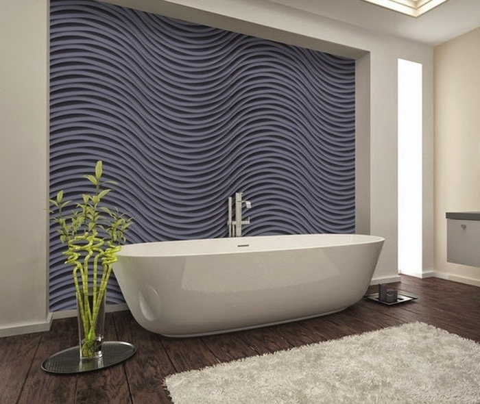 Most Recent 3D Wall Art And Interiors Pertaining To Bathroom 3D Wall Panels Pvc Decorative Wall Art Panels – Interior (View 12 of 15)