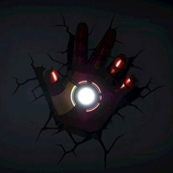 Most Recent 3D Wall Art Iron Man Night Light Intended For The Avengers 3D Wall Art Nightlight – Iron Man Hand – Other Products (View 12 of 15)