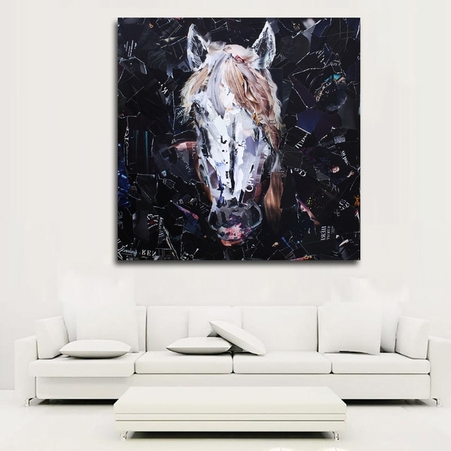 Most Recent Abstract Art Prints Painting Abstract Horse Head Pictures Wall Art Regarding Abstract Horse Wall Art (View 11 of 15)
