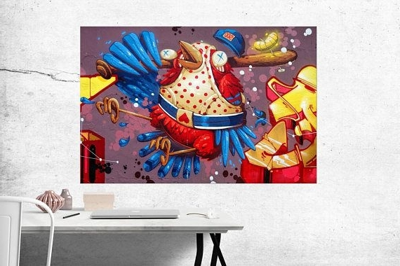 Most Recent Abstract Bird Wall Art Inside Abstract Bird Canvas Print, Abstract Bird Wall Art (View 12 of 15)