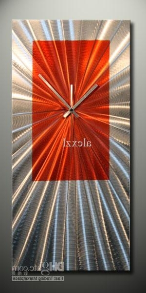 Most Recent Abstract Metal Wall Art With Clock With Modern Art Metal Sculptre Clock Metal Art Wall Art Abstract Art Wall (View 13 of 15)