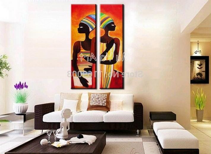Most Recent Abstract Modern Vertical Canvas Wall Art Large Wall African Women For Long Vertical Wall Art (View 10 of 15)