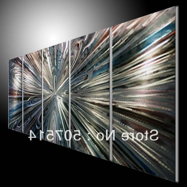 Most Recent Aluminum Abstract Wall Art With Original Abstract Wall Art On Metal Aluminum (View 5 of 15)