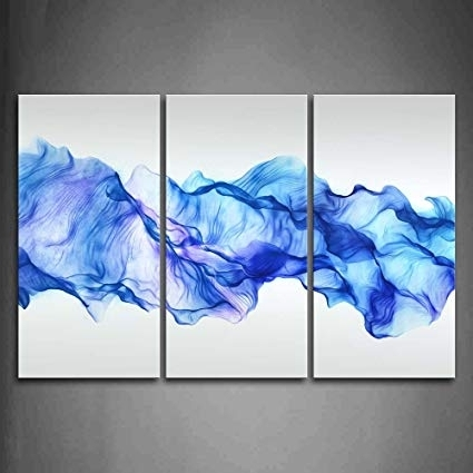 Most Recent Amazon: Firstwallart Artistic Abstract Blue Like Wave Wall Art Within Blue Canvas Abstract Wall Art (View 3 of 15)