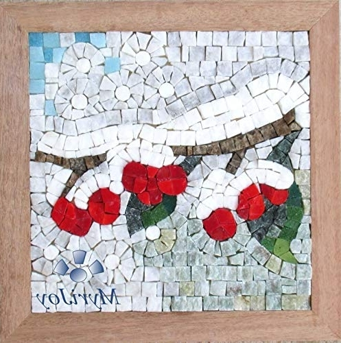 """Most Recent Amazon: Mosaic Art Kit For Adults: Four Seasons Winter 9""""x9 Pertaining To Mosaic Wall Art Kits (View 10 of 15)"""