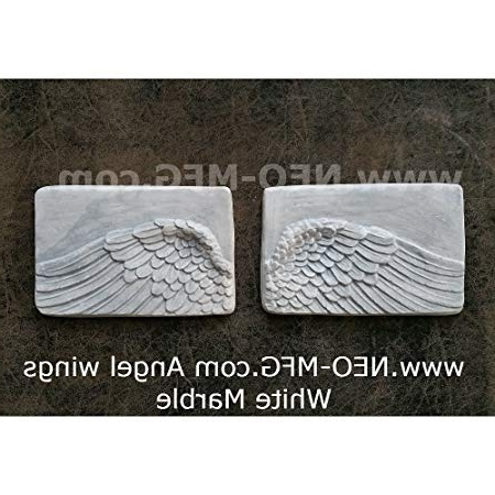 Most Recent Angel Wings Sculpture Plaque Wall Art In Angel Wings Wall Art Sculpture Plaque Home Decor Set Hand Made In (View 15 of 15)