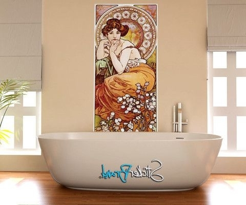 Most Recent Art Nouveau Wall Decals With Art Nouveau Wall Decal (View 11 of 15)