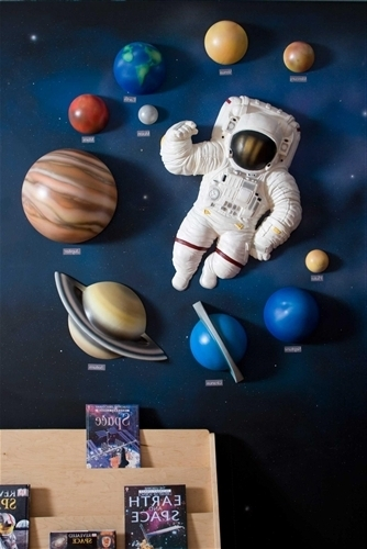 Most Recent Astronaut 3D Wall Art With Regard To Beetling Solar System With Space Astronaut 3D Wall Art Decor (View 11 of 15)