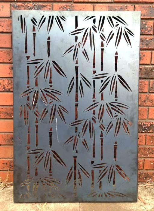 Most Recent Bamboo Metal Wall Art In Bamboo Metal Wall Art Bamboo Metal Art Tropical Bamboo Metal Wall (View 10 of 15)