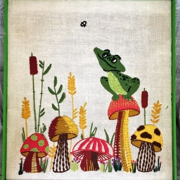 Most Recent Best Crewel Embroidery Wall Hangings Products On Wanelo For Mushroom Wall Art (View 4 of 15)