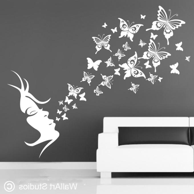 Most Recent Bird Wall Art Stickers Butterfly Wall Art Stickers, Butterfly Wall Intended For Butterflies Wall Art Stickers (View 6 of 15)