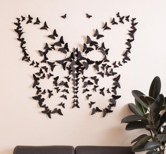 Most Recent Butterfly Wall Art Black D Butterfly Wallpaper Animal Wall Art Home Throughout 3D Butterfly Wall Art (View 14 of 15)