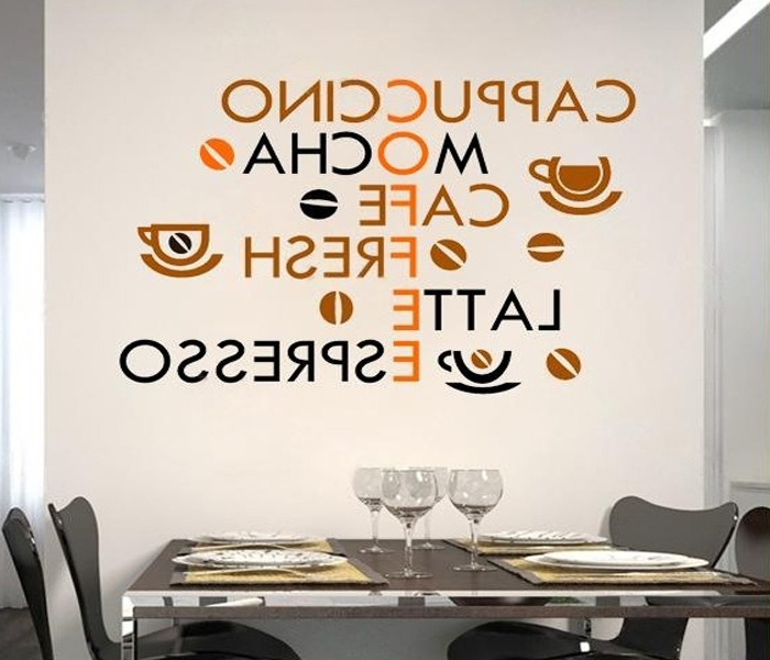 Most Recent Cafe Latte Kitchen Wall Art In Aliexpress : Buy Creative Coffee Wall Stickers Home Decor Living (View 7 of 15)