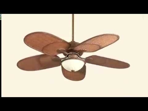 """Most Recent Casa Vieja Outdoor Ceiling Fans With Regard To 52"""" Casa Vieja Rattan Outdoor Tropical Ceiling Fan – Youtube (View 3 of 15)"""
