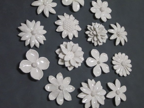 Most Recent Ceramic Flower Wall Art Custom Order Wedding Gift Wall (View 15 of 15)