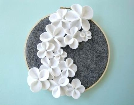 Most Recent Ceramic Flower Wall Decor Art Wall Decor White Ceramic Flower Art Inside Ceramic Flower Wall Art (View 9 of 15)