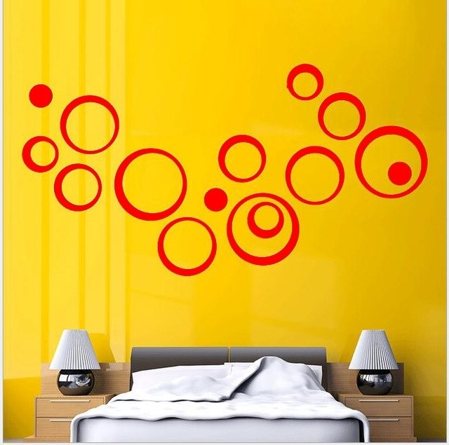 Most Recent Circles 3D Wall Art Intended For 2016 Hot Fashion Wall Sticker Home Decoration Circles 3D Removable (View 8 of 15)