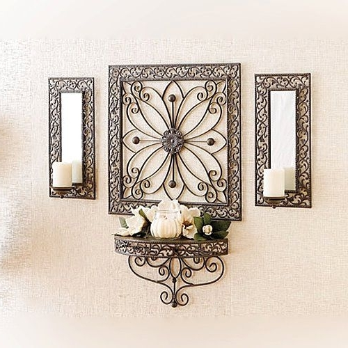 Most Recent Cream Metal Wall Art For Ramsey Grouping Grouping Includes: 33559 Ramsey Wall Art And Sconces (View 7 of 15)