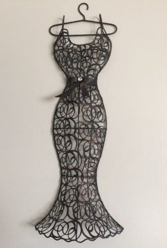 Most Recent Curvy Dress Form Metal Wall Decor Display Mannequin Fashion Art Best In Mannequin Wall Art (View 10 of 15)