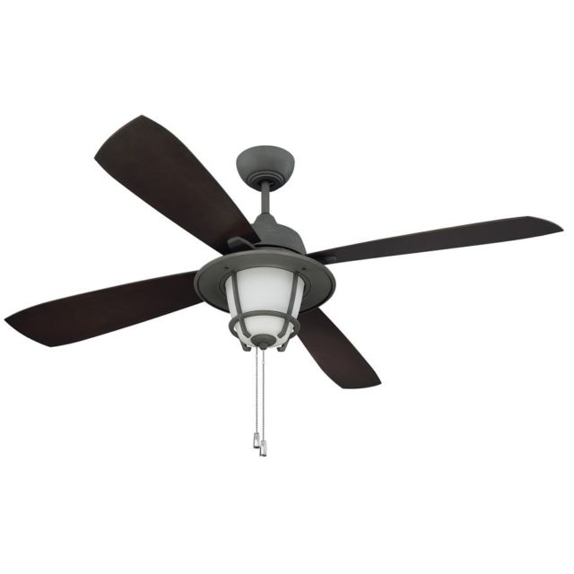 "Most Recent Ellington Outdoor Ceiling Fans Within Ellington Mr56Agv4C1 Morrow Bay 56"" Outdoor Ceiling Fan In Aged (View 11 of 15)"