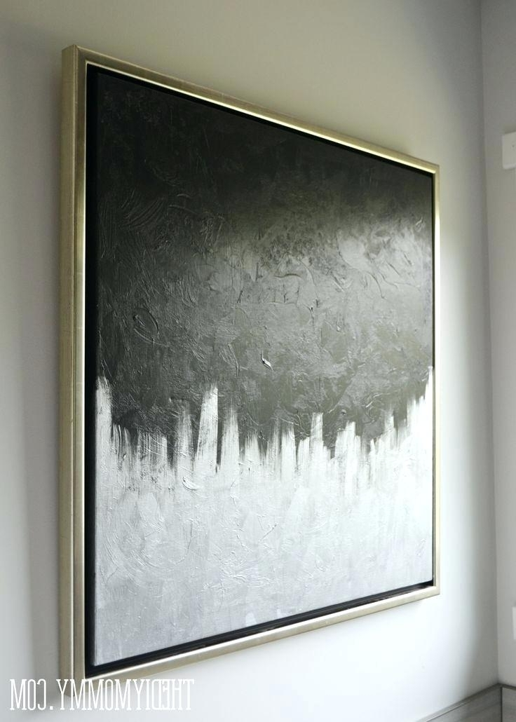 Most Recent Gray Abstract Canvas Art Yellow And Grey Abstract Canvas Art For Gray Abstract Wall Art (View 12 of 15)