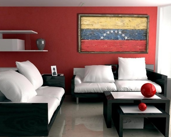 Most Recent Handmade, Distressed Wooden Venezuela Flag, Vintage, Distressed With Regard To Venezuela Wall Art 3D (View 8 of 15)