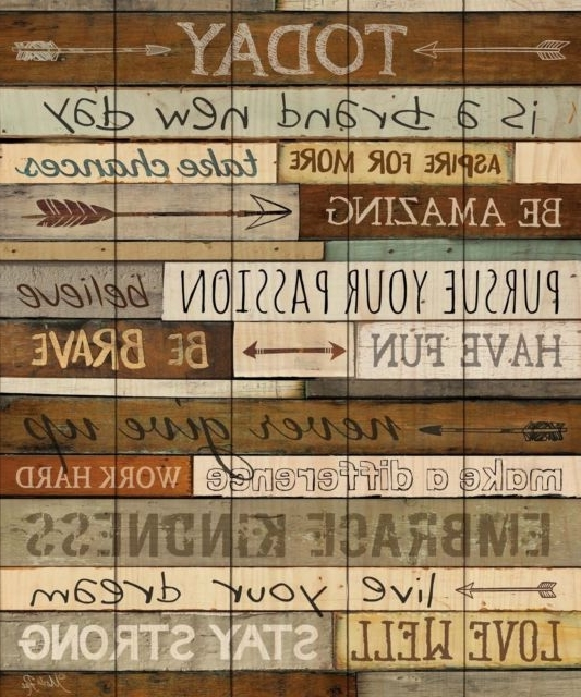Most Recent Inspirational Wall Plaques For Today Is A Day Inspirational Phrases 21 X 18 Wood Pallet Wall Art (View 4 of 15)