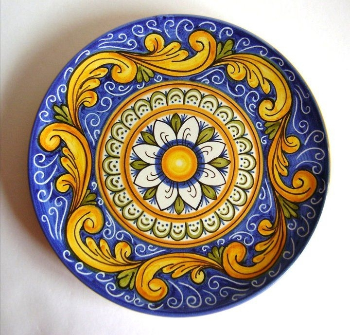 Most Recent Italian Ceramic Wall Art Inside Italian Ceramic Wall Plates From Sicily (View 3 of 15)