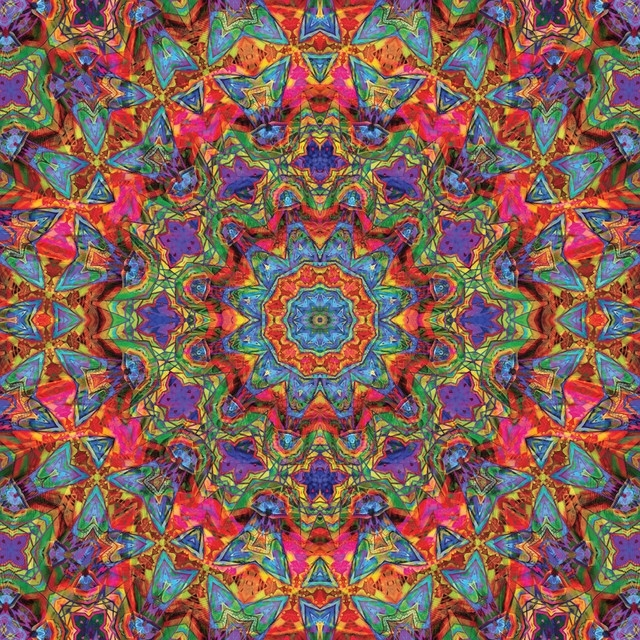 Most Recent Kaleidoscope Wall Art Sticker Decal, Cautiously Springlyle Hatch Pertaining To Kaleidoscope Wall Art (View 1 of 15)