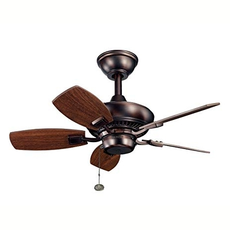 Most Recent Kichler Outdoor Ceiling Fans With Lights Within Kichler 300103Obb 30 Inch Canfield Fan, Oil Brushed Bronze – Outdoor (View 4 of 15)