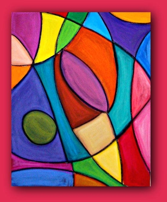Most Recent Large Colorful Wall Art 1 Piece Wall Art Living Room Large Canvas Pertaining To Colorful Abstract Wall Art (View 8 of 15)