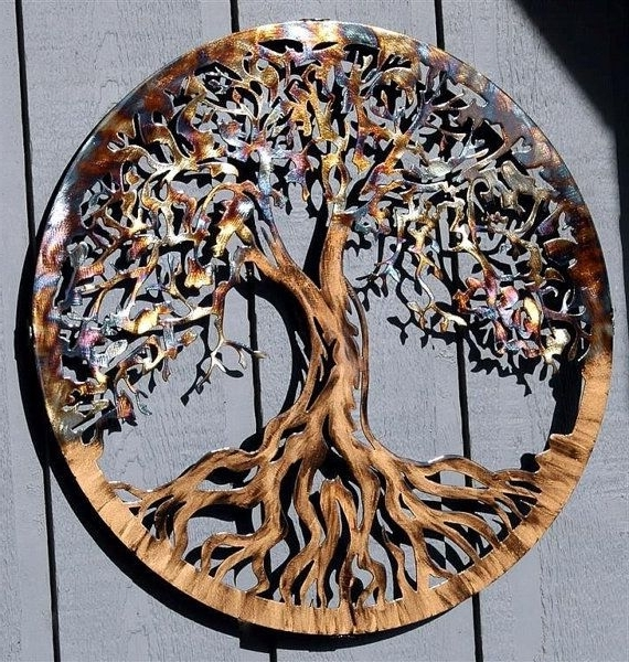 Most Recent Large Metal Wall Art Tree Of Life (View 10 of 15)