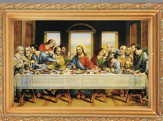 Most Recent Last Supper Antique Gold Framed Print With Last Supper Wall Art (View 12 of 15)