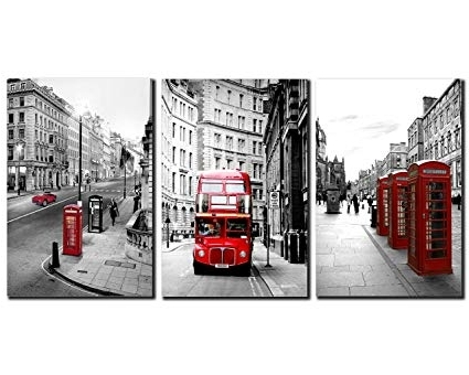 Most Recent London Scene Wall Art Pertaining To Amazon: Nan Wind Modern Wall Art Painting Framed London (View 11 of 15)