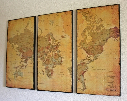 Most Recent Maps For Wall Art For Canvas Map Wall Art – Just Two Crafty Sistersjust Two Crafty Sisters (View 13 of 15)
