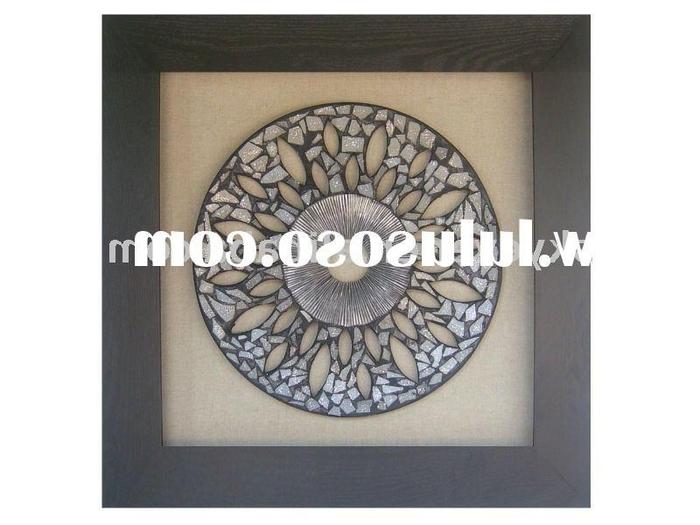Most Recent Metal Framed Wall Art regarding 16. Featured Image Of Metal Framed Wall Art