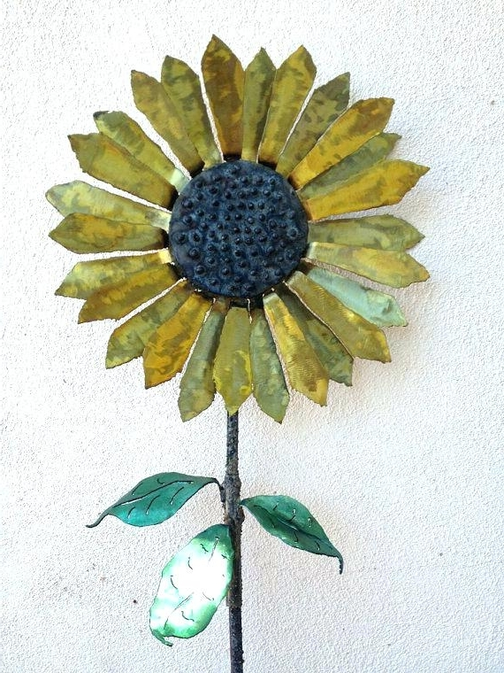 Most Recent Metal Sunflower Yard Art With Regard To Metal Sunflower Yard Art – Snapat (View 10 of 15)
