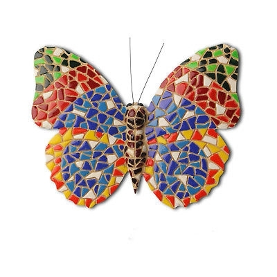 Most Recent Mosaic Butterfly Garden Ornament Wall Art Feature Insect – £ (View 10 of 15)