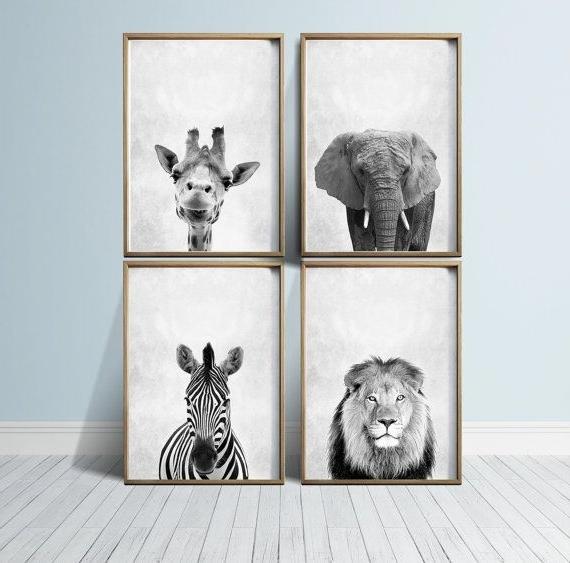 Most Recent Nursery Art Nursery Prints Nursery Wall Art Safari Nursery Animals Within Animal Wall Art (View 12 of 15)