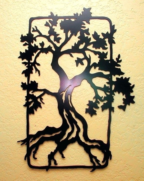 Most Recent Oak Tree Metal Wall Art Oak Tree Wall Art Tree Wall Art Oak Tree And Regarding Oak Tree Wall Art (View 3 of 15)
