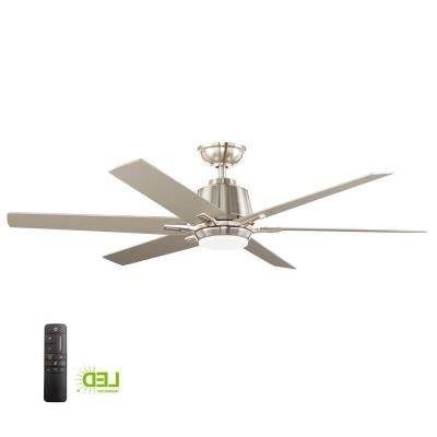 Most Recent Outdoor Ceiling Fan No Electricity Pertaining To Dc Motor – Ceiling Fans – Lighting – The Home Depot (View 9 of 15)