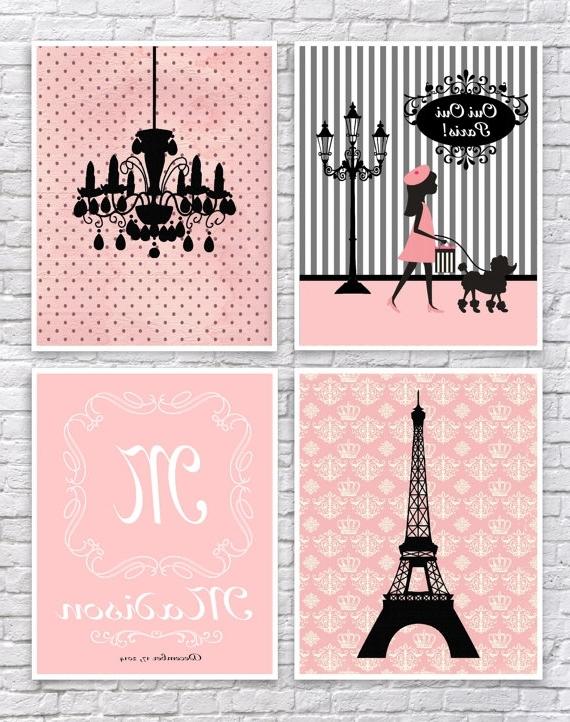 Most Recent Paris Theme Nursery Wall Art With Girls Paris Bedroom Art, French Wall Art, Paris Nursery Art, Paris (View 4 of 15)