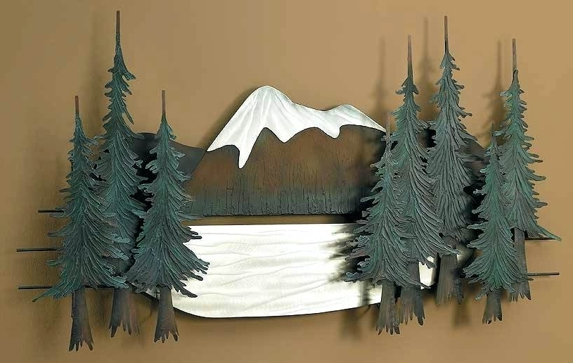 Most Recent Pine Tree Wall Art Pine Tree Inpine Trees 3D Metal Wall Art With Regard To Pine Tree Wall Art (View 5 of 15)