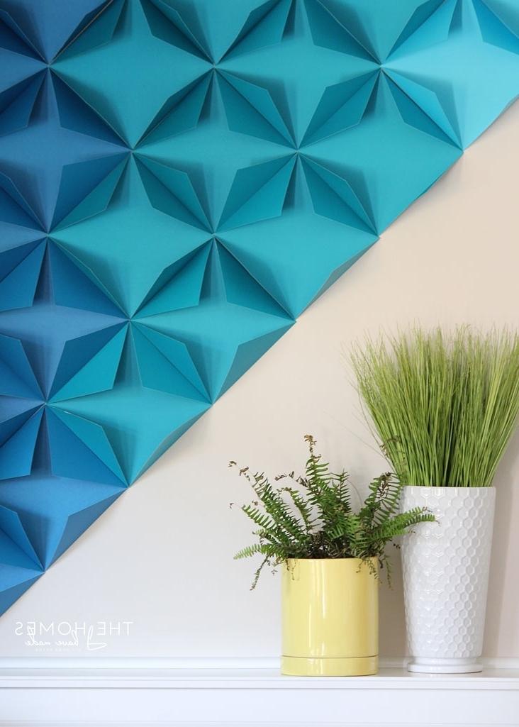 Most Recent Renter Friendly 3D Paper Wall Art, Paper Wall Art – Swinki Morskie Within 3D Wall Art With Paper (View 10 of 15)
