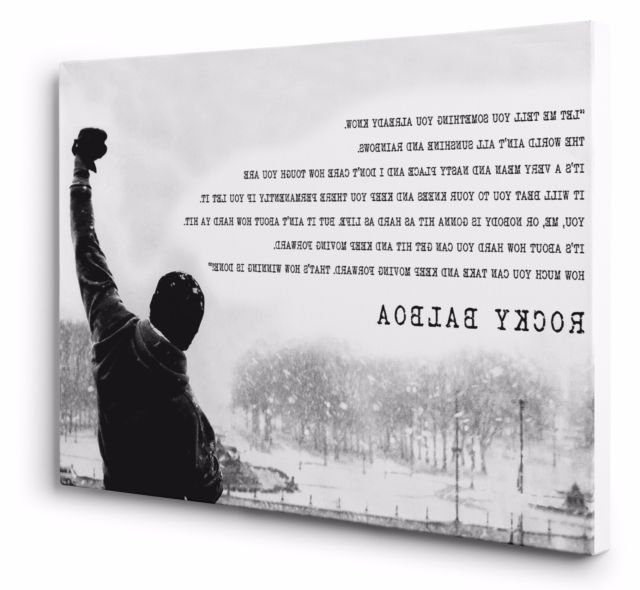 Most Recent Rocky Balboa Canvas Wall Art Print Movie Motivation Quote 20X30 With Rocky Balboa Wall Art (View 6 of 15)
