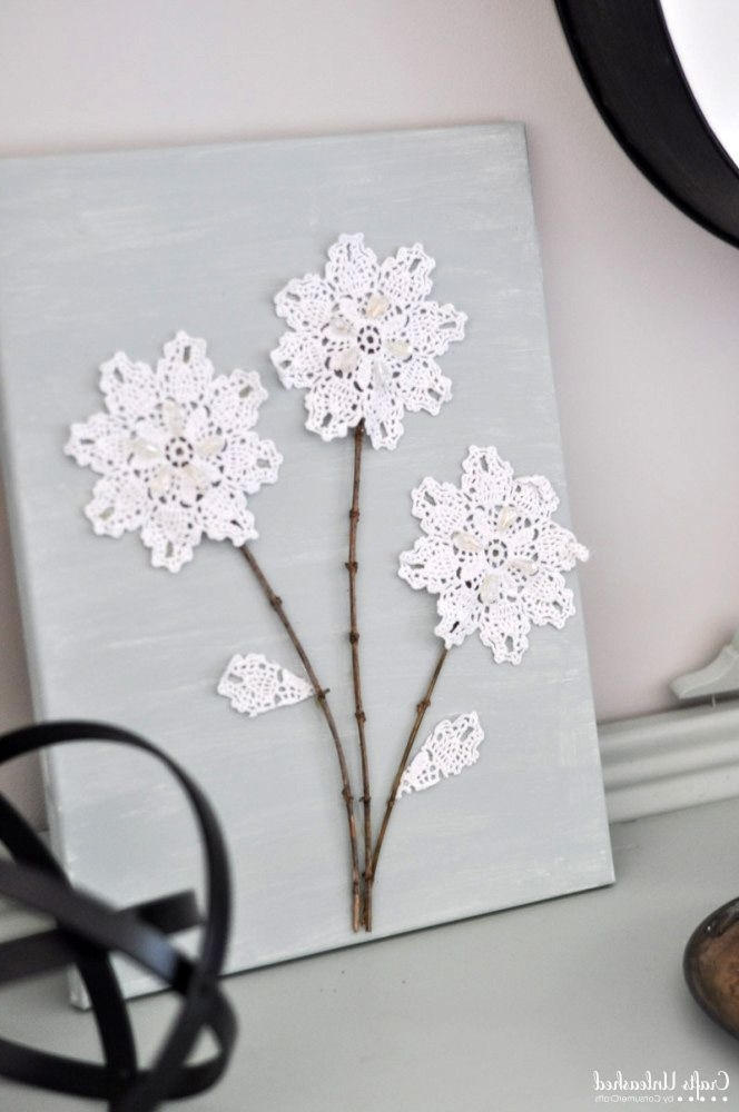 Most Recent Shabby Chic Canvas Wall Art For Diy Canvas Wall Art: Shabby Chic Flowers – Crafts Unleashed (View 6 of 15)