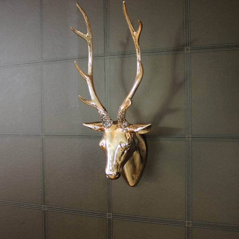 Most Recent Stags Head Wall Art With Img Project For Awesome Stag Head Wall Decoration – Best Home Design (View 3 of 15)