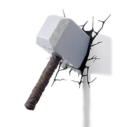 Most Recent Thor Hammer 3D Wall Art For 3D Light Fx Marvel Thor Hammer 3D Deco Led Wall Light – Wowcoolstuff (View 12 of 15)