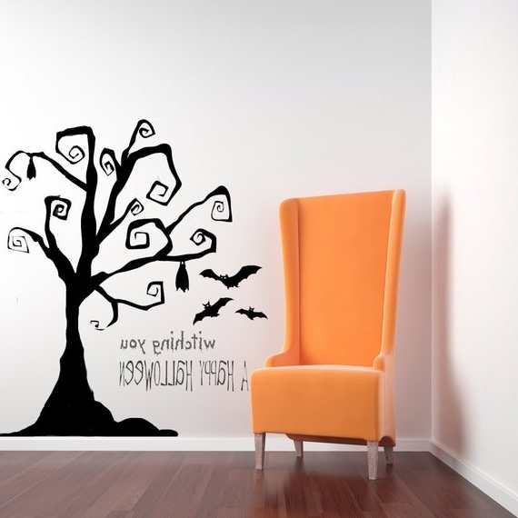 Most Recent Tim Burton Wall Decals With Tim Burton Decor Tree Wall Decal Tree Decal Halloween Tree (View 2 of 15)