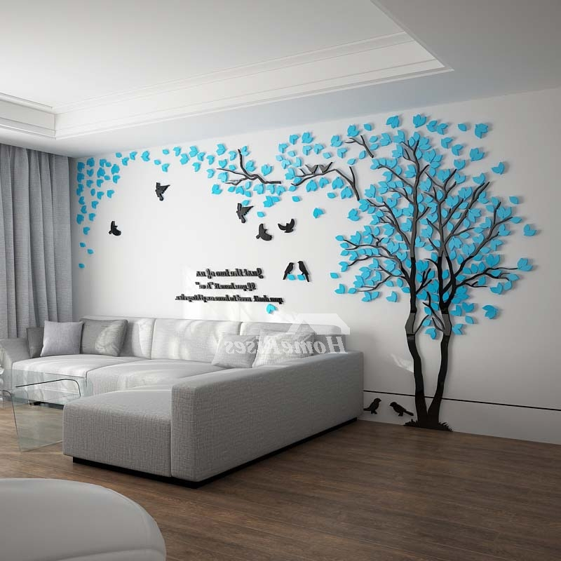 Most Recent Wall Decals For Bedroom Tree Decoraive Personalised Home 3D Within Venezuela Wall Art 3D (View 10 of 15)